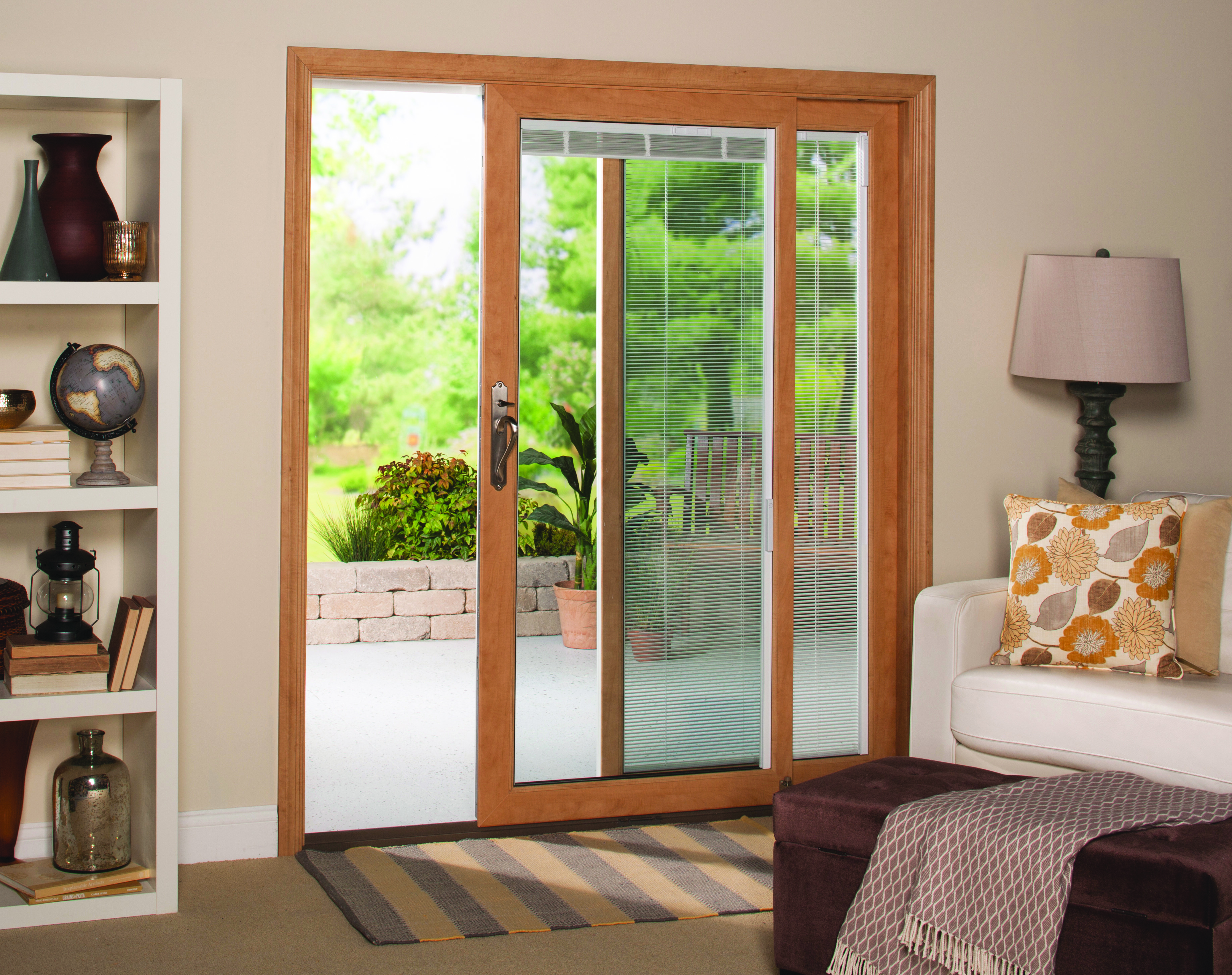 patio door with blinds replacement window options