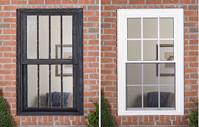Integrated Exterior Brickmould Sunrise Windows
