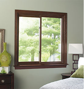 Oak and maple Madera window trim from a bedroom.