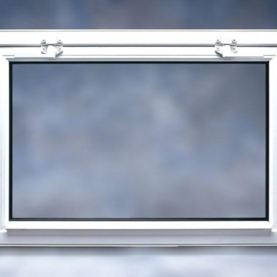 basement hopper window closed