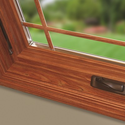 casement window corner detail close-up