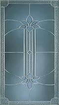 A decorative pane of glass with a Galena Leaded Pattern
