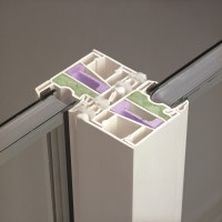 cross section of sliding door frame - fiber