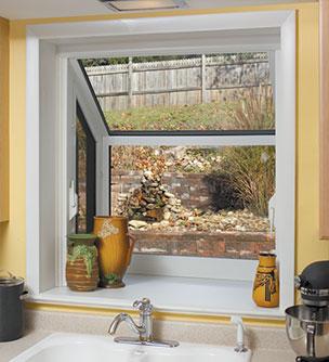 Merveilleux Interior View Of A White Garden Window.