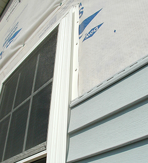 An example of an ongoing window installation.