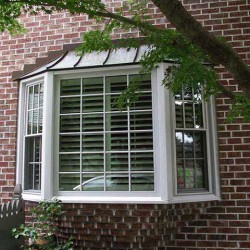Bay Window exterior with blinds 2