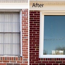 Before and After window replacement picture style