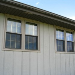 Brass Pencil Grids on double hung windows