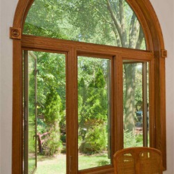 Full Frame Round Top Over Triple Casement Windows