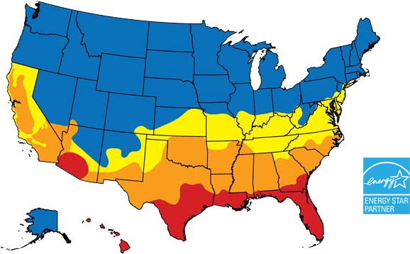 Window Glass For US Climates Latitude Glass By Sunrise Windows - Us climate map zone