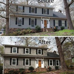 Double Hung Windows - Before and After