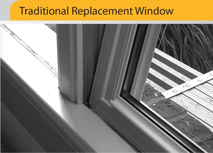typical replacement window installation
