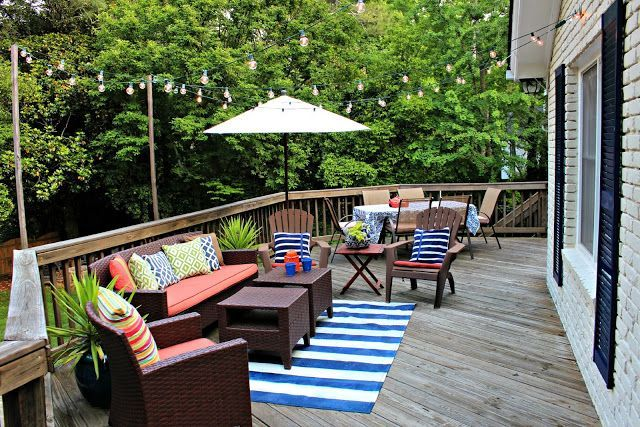clean and bright outdoor patio ready for summer