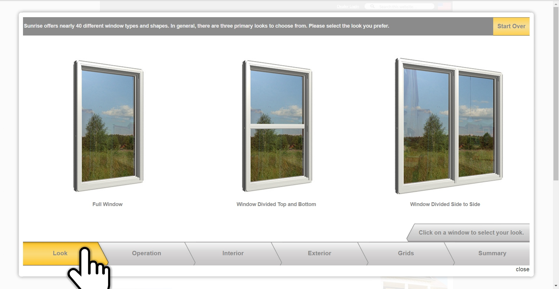visualizer tool choose look